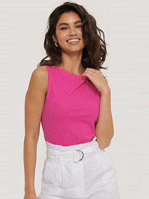 Manon Tilstra x NA-KD Jersey-Topp rosa