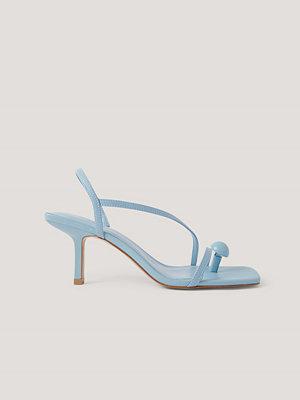 Pumps & klackskor - Mango Sandaler Med Remmar blå