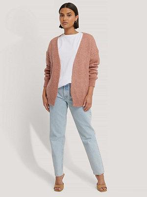 NA-KD Stickad Cardigan rosa