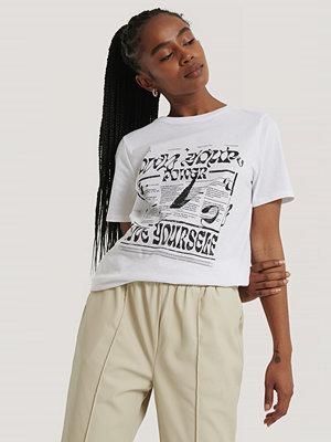 NA-KD T-Shirt vit
