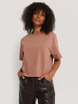 NA-KD Basic Oversize T-Shirt rosa