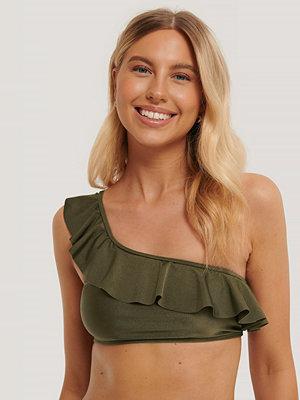 NA-KD Swimwear Bikiniöverdel grön