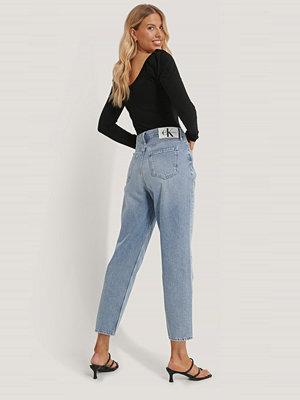 Calvin Klein Jeans Med Hög Midja blå