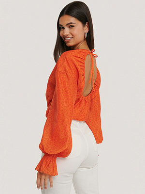 NA-KD Trend Blus Med Dragsko orange