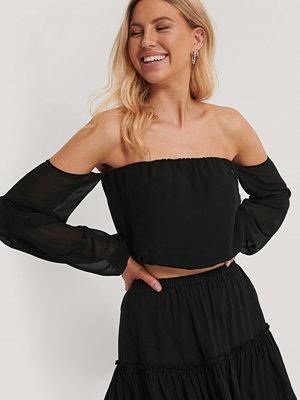 Pamela x NA-KD Reborn Recycled Off-shoulder-klänning Med Ballongärm svart