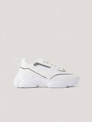 NA-KD Shoes Smala Gympaskor I Meshmix vit