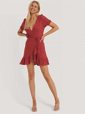 Mango Omlottklänning röd