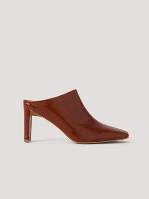Pumps & klackskor - NA-KD Shoes Mules Med Rynkning På Ovansidan röd