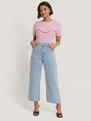 NA-KD Trend Stickad Topp rosa