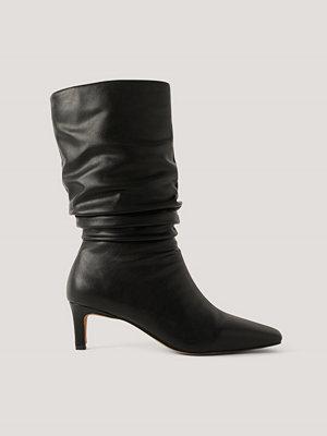 Pumps & klackskor - NA-KD Shoes Boots Med Fyrkantig Tå svart