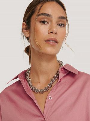 NA-KD Accessories smycke Halsband Med Tvinnade Kedjor silver