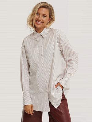 Skjortor - NA-KD Classic Oversize, Randig Skjorta Med Ficka multicolor