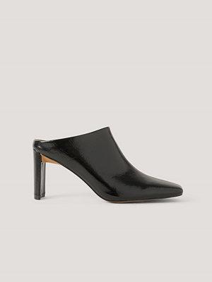 Pumps & klackskor - NA-KD Shoes Mules Med Rynkning På Ovansidan svart