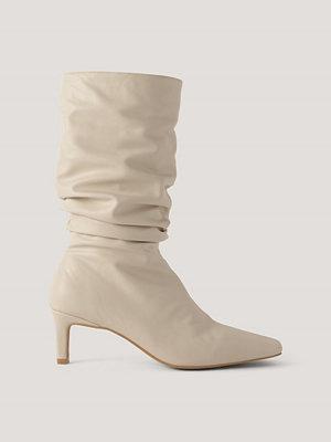 Pumps & klackskor - NA-KD Shoes Boots Med Fyrkantig Tå beige
