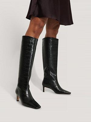 NA-KD Shoes Boots Med Fyrkantig, Lång Tå Och Skaft svart