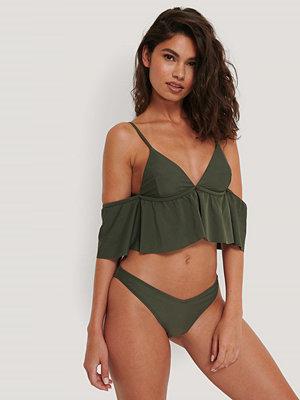 NA-KD Swimwear V-Formad Bikinitrosa grön