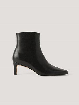 Pumps & klackskor - NA-KD Shoes Ankelboots Med Fyrkantig, Lång Tå svart