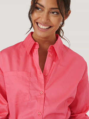 NA-KD Reborn Recycled Oversize Skjorta Med Ficka rosa