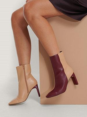 NA-KD Shoes Boots Med Fyrkantig Tå multicolor