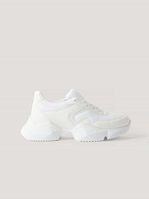 NA-KD Shoes Chunky Gympaskor vit