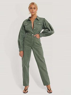 NA-KD Reborn Ekologiska Jeans Med Lös Passform grön