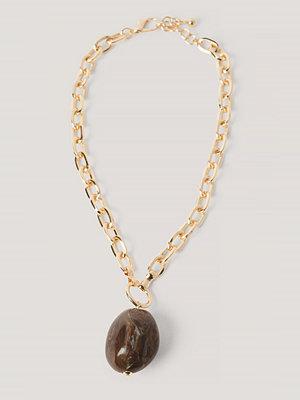 NA-KD Accessories smycke Rynket Matt Hårspenne guld