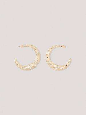NA-KD Accessories smycke Hoopörhängen Med Diamantdetaljer guld