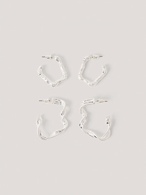 NA-KD Accessories smycke Örhängen Med Dubbla Hoops silver