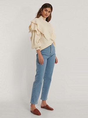 NA-KD Trend Ekologiska raka jeans med hög midja blå