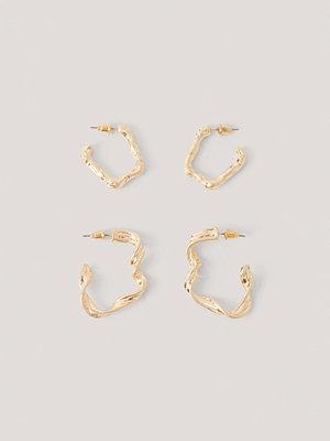 NA-KD Accessories smycke Örhängen Med Dubbla Hoops guld