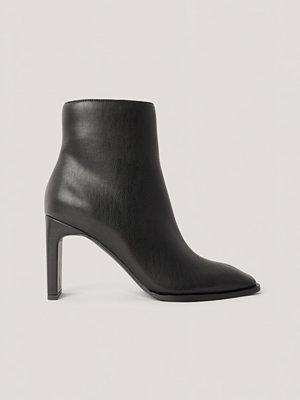 Pumps & klackskor - NA-KD Shoes Boots Med Fyrkantig, Lutande Tå svart