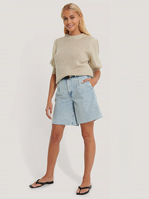 Shorts & kortbyxor - NA-KD Trend Bermudashorts Med Pressveck blå