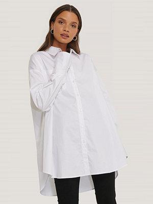NA-KD Reborn Recycled Oversize Skjorta Med Ficka vit