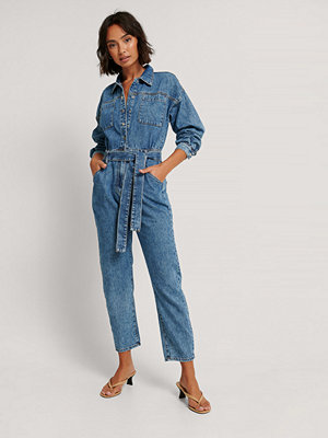 Jumpsuits & playsuits - Mango Denimjumpsuit blå