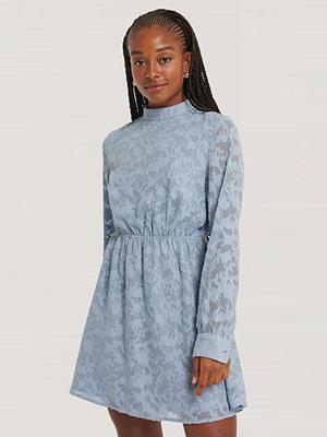 NA-KD Boho Jacquardklänning blå