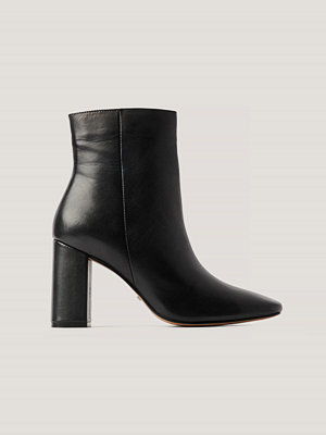 NA-KD Shoes Basic Läderboots svart