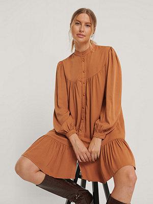 Trendyol Skjortklänning Med Detaljer orange