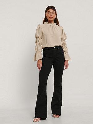 Jeans - Trendyol Utsvängda Jeans Med Hög Midja svart