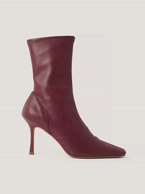 NA-KD Shoes Stövlar Med Spetsig Tå röd