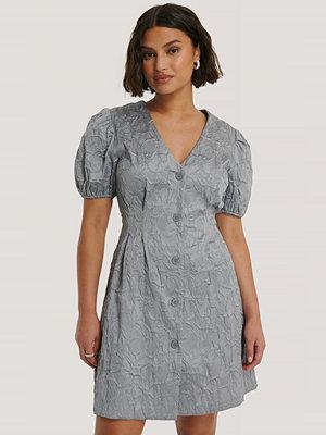 NA-KD Trend Miniklänning Med Puffärmar blå