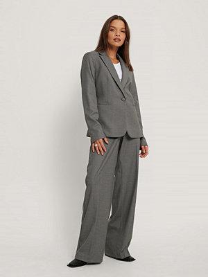 Mango Kostymbyxor grå
