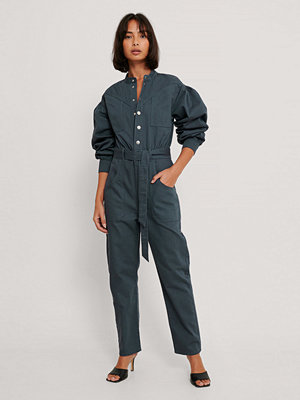 Jumpsuits & playsuits - NA-KD Trend Färgad Jumpsuit I Denim blå
