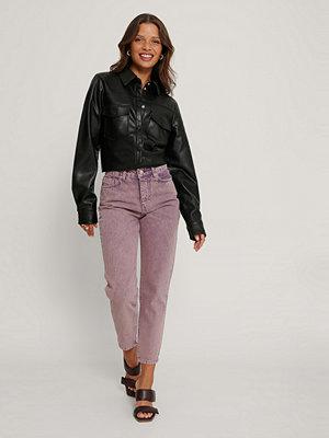 Jeans - Trendyol Jeans Med Hög Midja rosa