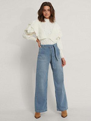 Jeans - Trendyol Jeans Med Bältesdetalj blå