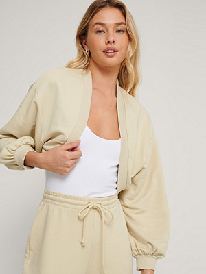NA-KD Reborn Ekologisk Croppad Sweatshirt beige