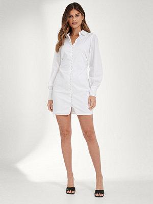 Mathilde Gøhler x NA-KD Skjortklänning vit