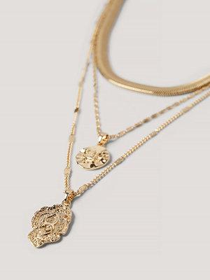 Jasmin Azizam x NA-KD smycke 3-Pack Halsband guld