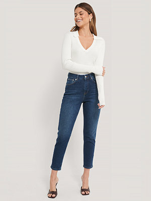 NA-KD Reborn Ekologiska Mom-jeans blå