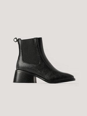 NA-KD Shoes Chelseaboots Med Fyrkantig Tå svart
