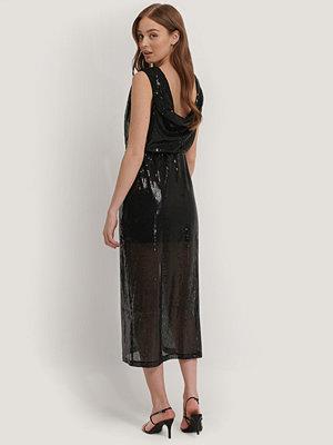 Mango Paljettklänning svart